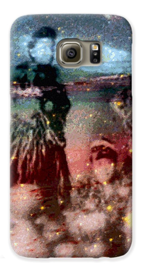 Tropical Interior Design Galaxy S6 Case featuring the photograph E Ola Ana No by Kenneth Grzesik