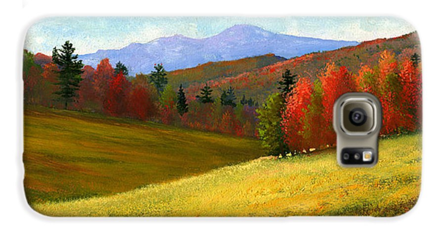 Landscape Galaxy S6 Case featuring the painting Early October by Frank Wilson