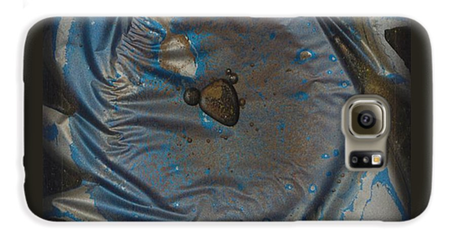 Space Galaxy S6 Case featuring the painting Earth...the Final Spin by Rick Silas