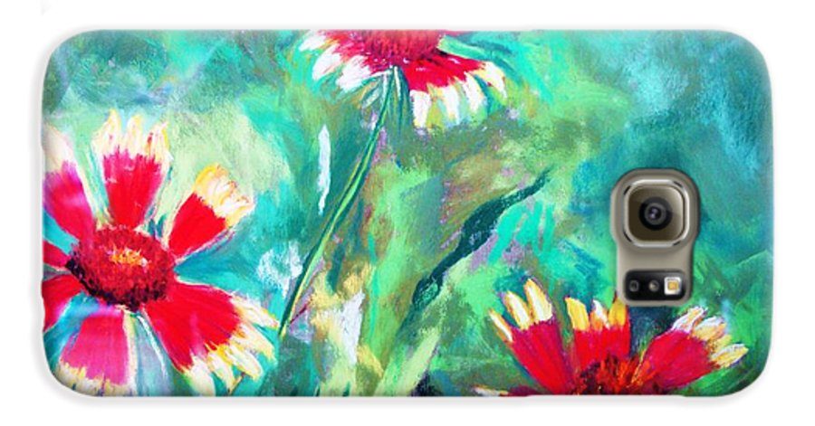 Flowers Galaxy S6 Case featuring the painting East Texas Wild Flowers by Melinda Etzold