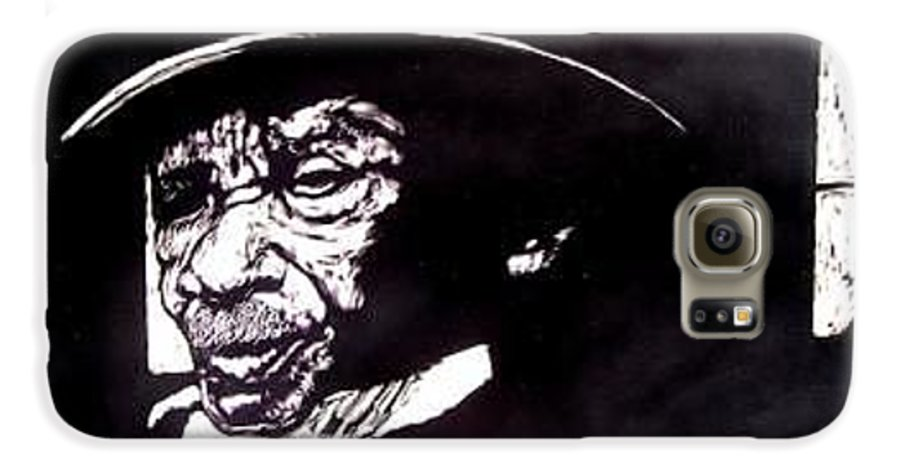 Galaxy S6 Case featuring the mixed media Ebenezer by Chester Elmore
