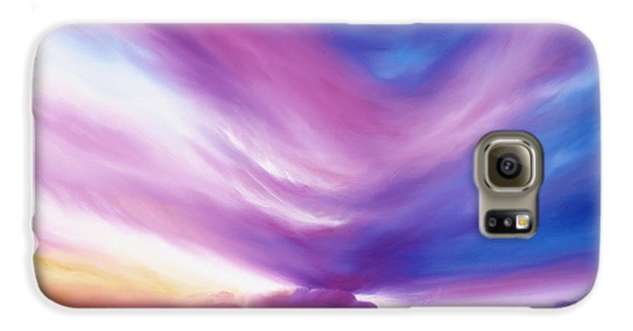 Clouds Galaxy S6 Case featuring the painting Ecstacy by James Christopher Hill