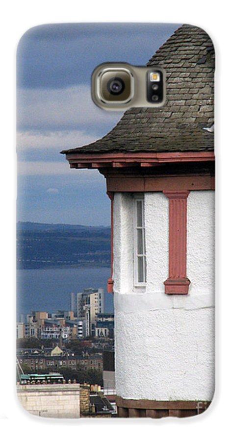 Scotland Galaxy S6 Case featuring the digital art Edinburgh Scotland by Amanda Barcon