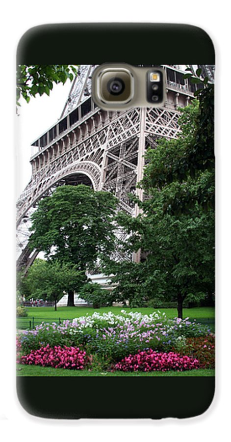 Eiffel Galaxy S6 Case featuring the photograph Eiffel Tower Garden by Margie Wildblood