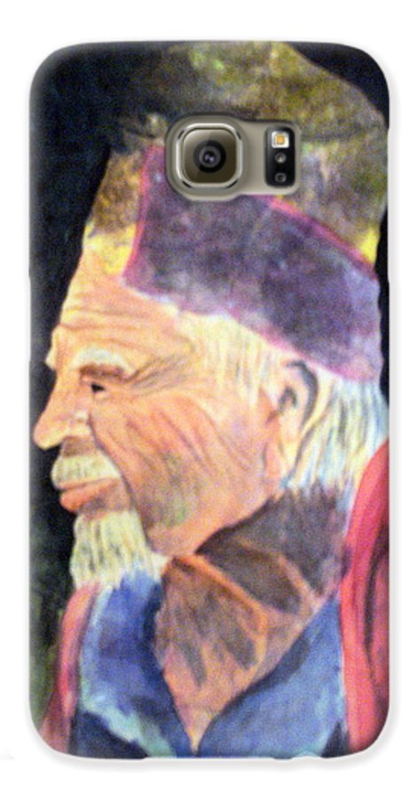 Elder Galaxy S6 Case featuring the painting Elder by Susan Kubes