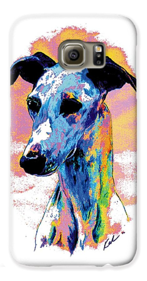 Electric Whippet Galaxy S6 Case featuring the digital art Electric Whippet by Kathleen Sepulveda