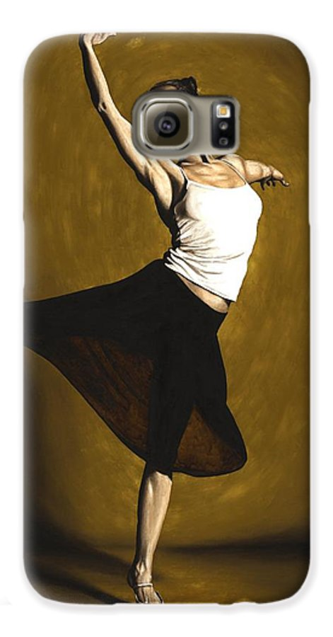 Elegant Galaxy S6 Case featuring the painting Elegant Dancer by Richard Young