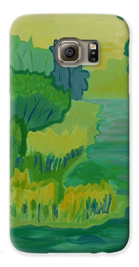 River Galaxy S6 Case featuring the painting Ellis River by Debra Bretton Robinson