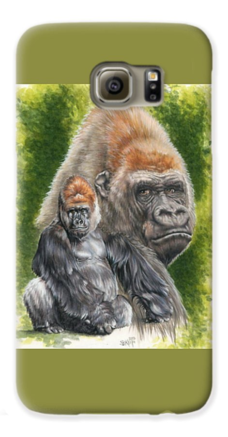 Gorilla Galaxy S6 Case featuring the mixed media Eloquent by Barbara Keith
