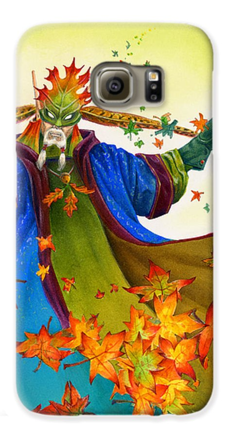 Elf Galaxy S6 Case featuring the painting Elven Mage by Melissa A Benson