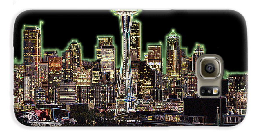 Colorful Galaxy S6 Case featuring the photograph Emerald City by Larry Keahey