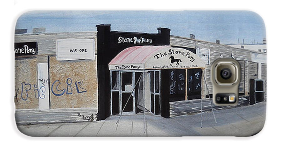 Acrylic Painting Of The Stone Pony Galaxy S6 Case featuring the painting End Of An Era by Patricia Arroyo