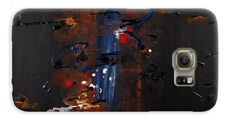 Black Galaxy S6 Case featuring the painting Energy by Nadine Rippelmeyer