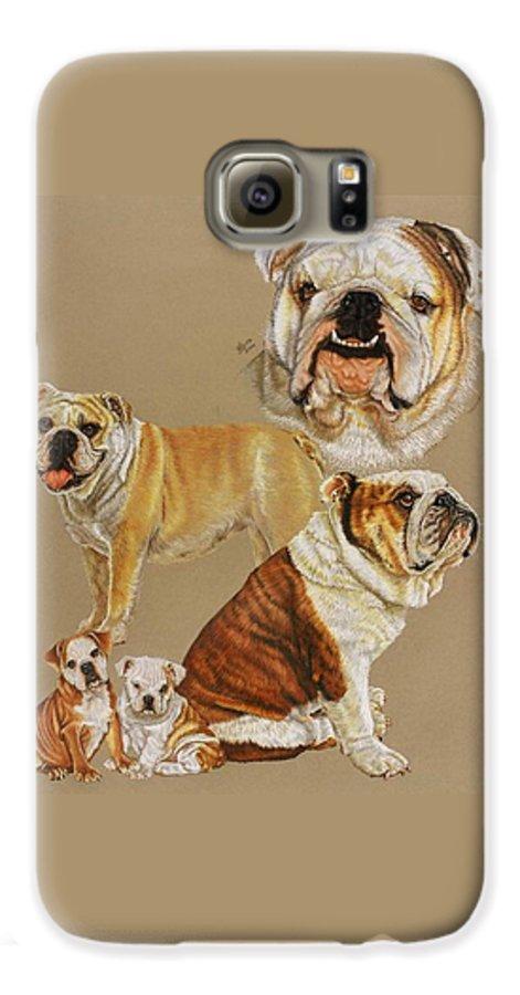 Dog Galaxy S6 Case featuring the drawing English Bulldog by Barbara Keith