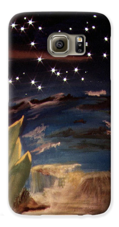 Surreal Galaxy S6 Case featuring the painting Enter My Dream by Steve Karol