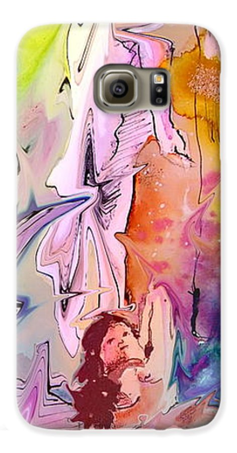 Miki Galaxy S6 Case featuring the painting Eroscape 09 1 by Miki De Goodaboom