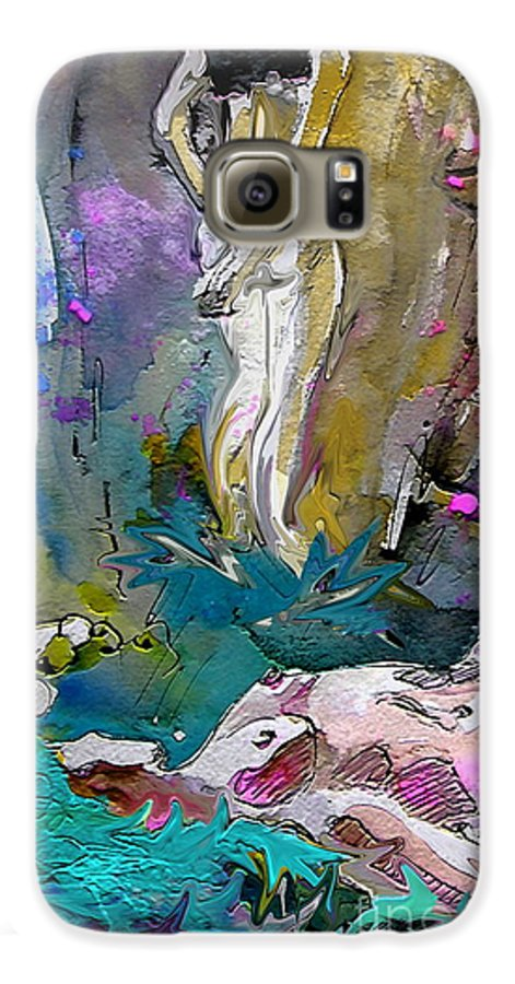 Miki Galaxy S6 Case featuring the painting Eroscape 1104 by Miki De Goodaboom