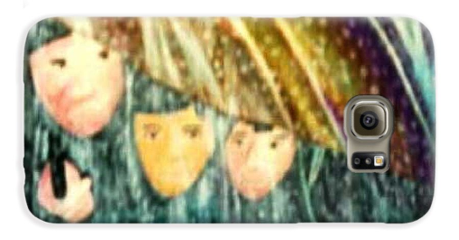 Portrait Galaxy S6 Case featuring the painting Escape From The Rain by Brenda L Spencer