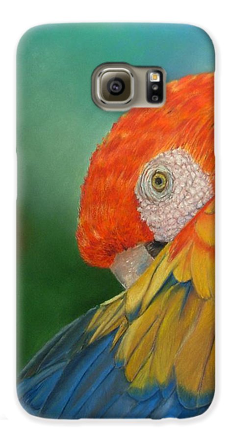 Bird Galaxy S6 Case featuring the painting Escondida by Ceci Watson