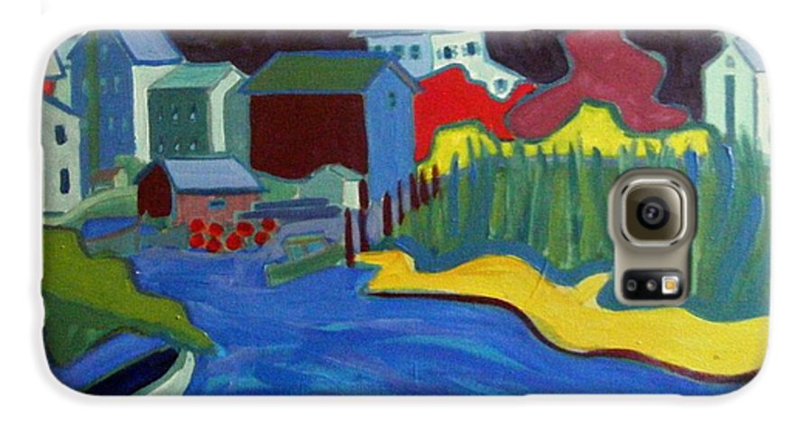 Essex River Galaxy S6 Case featuring the painting Essex River by Debra Bretton Robinson