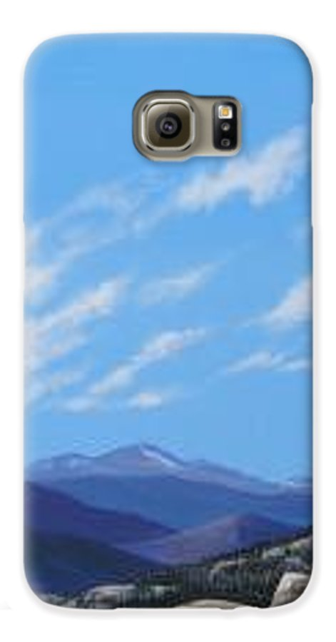 Estes Park Galaxy S6 Case featuring the painting Estes Overlook by Hunter Jay