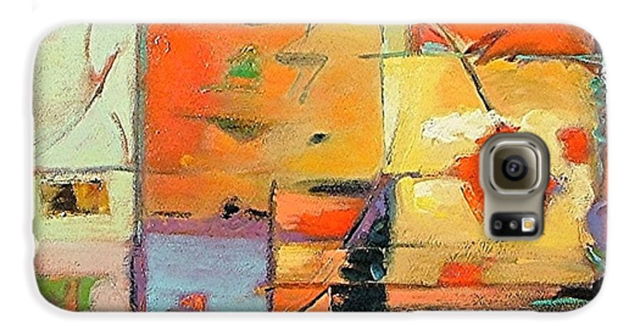 Abstract Painting Galaxy S6 Case featuring the painting Evening Light by Gary Coleman