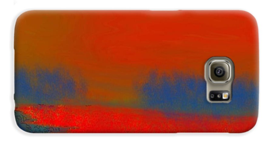 Sunset Galaxy S6 Case featuring the digital art Evening Way To Dead Sea.fire Sunset by Dr Loifer Vladimir