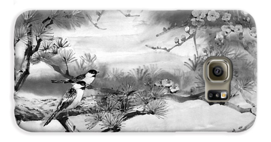 Chinese Painting Galaxy S6 Case featuring the painting Expressions Of Spring by Eileen Fong