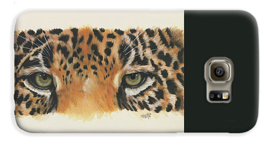 Big Cat Galaxy S6 Case featuring the painting Eye-catching Jaguar by Barbara Keith