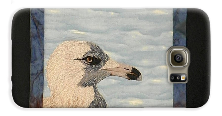 Birds Galaxy S6 Case featuring the tapestry - textile Eye Of The Gull by Jenny Williams