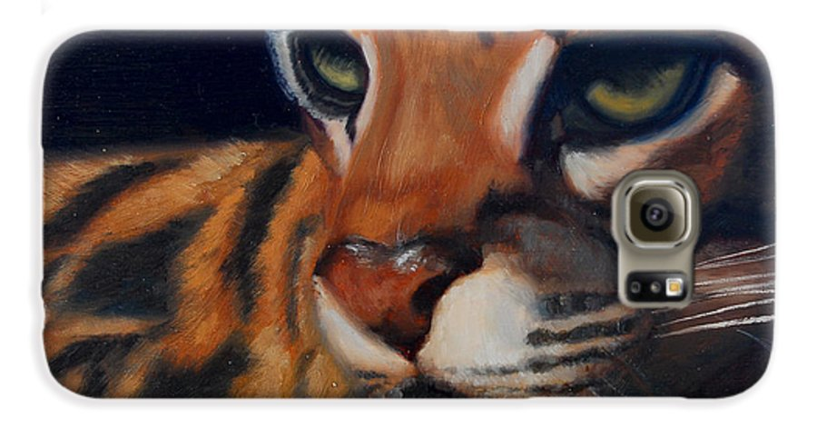 Painting Galaxy S6 Case featuring the painting Eyes Wide Open by Greg Neal