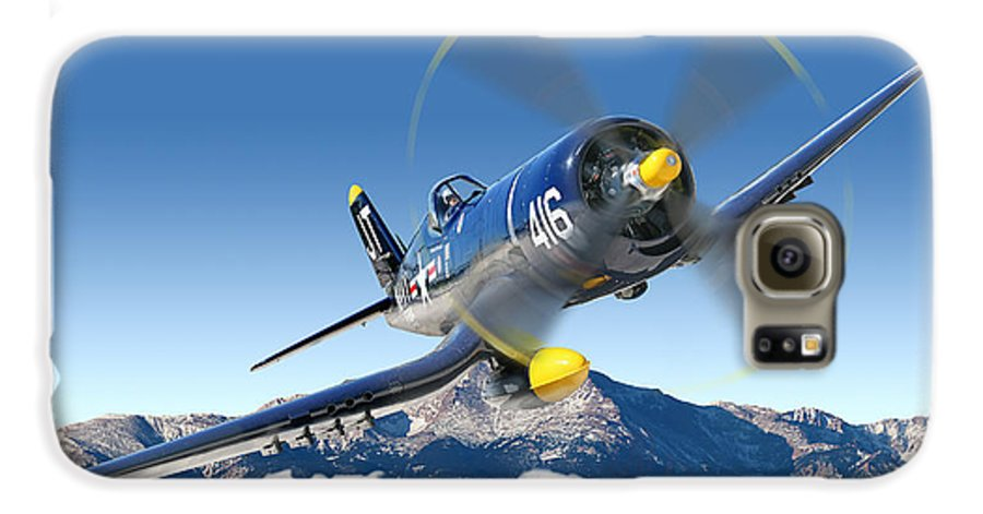 F4-u Corsair Galaxy S6 Case featuring the photograph F4-u Corsair by Larry McManus