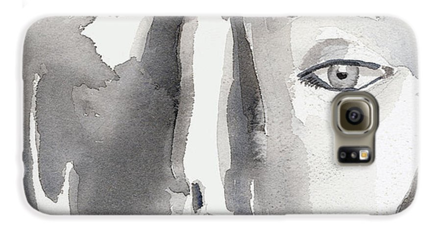 Faces Galaxy S6 Case featuring the painting Faces by Arline Wagner