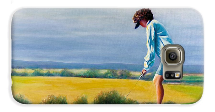 Golfer Galaxy S6 Case featuring the painting Fairy Golf Mother by Shannon Grissom
