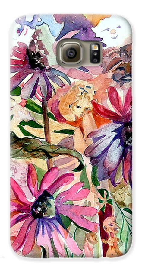 Daisy Galaxy S6 Case featuring the painting Fairy Land by Mindy Newman
