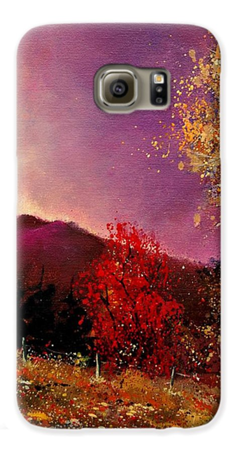 River Galaxy S6 Case featuring the painting Fall Colors by Pol Ledent