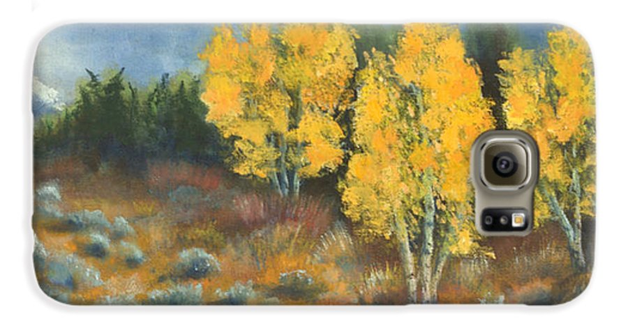 Landscape Galaxy S6 Case featuring the painting Fall Delight by Jerry McElroy