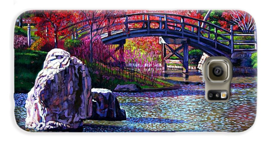 Garden Galaxy S6 Case featuring the painting Fall In The Garden by John Lautermilch