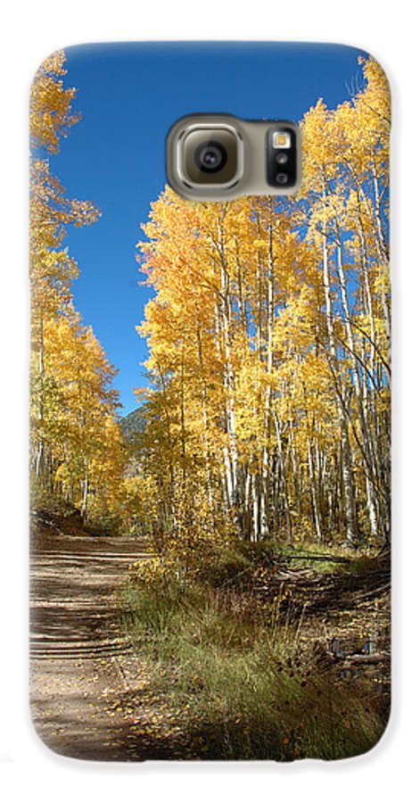 Landscape Galaxy S6 Case featuring the photograph Fall Road by Jerry McElroy