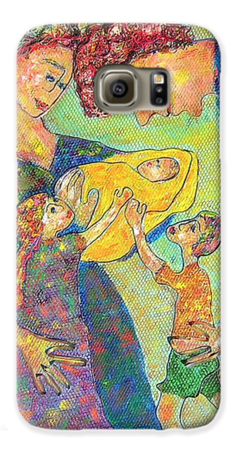 Family Enjoying Each Other Galaxy S6 Case featuring the painting Family Matters by Naomi Gerrard