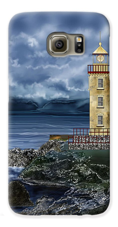 Lighthouse Galaxy S6 Case featuring the painting Fanad Head Lighthouse Ireland by Anne Norskog