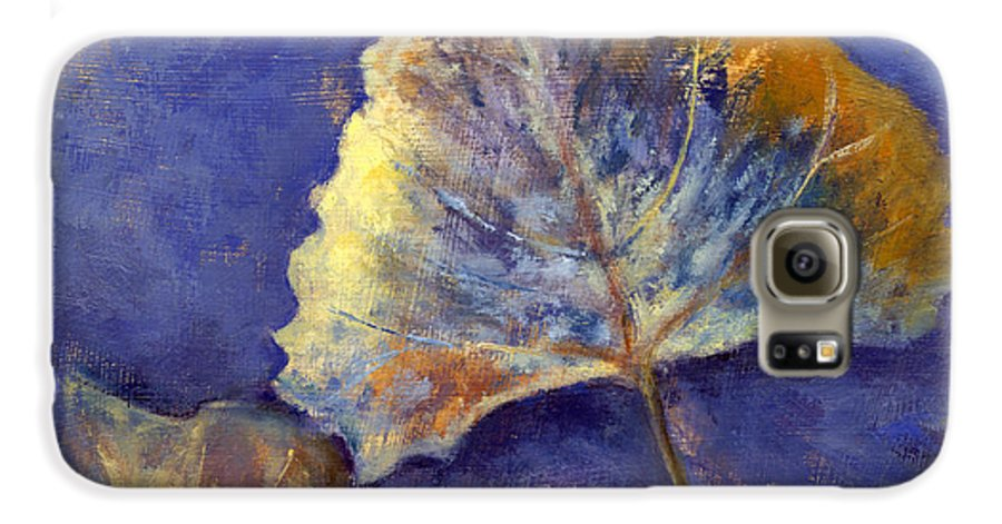 Leaves Galaxy S6 Case featuring the painting Fanciful Leaves by Chris Neil Smith