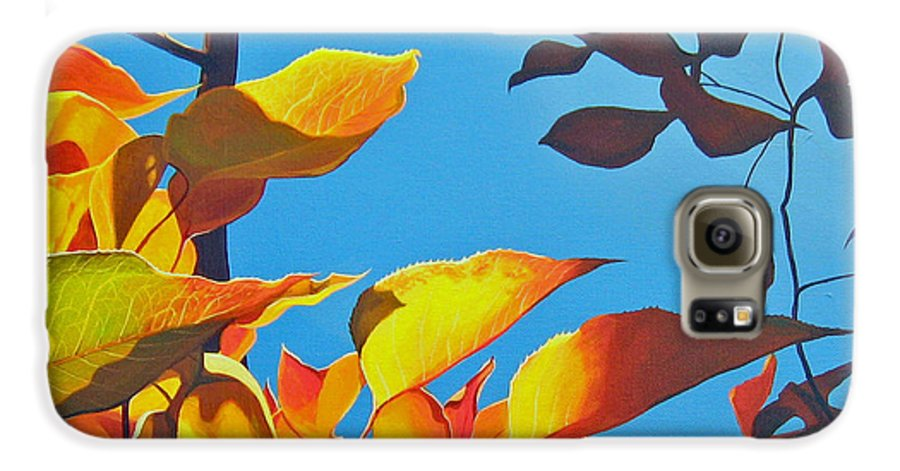 Fall Galaxy S6 Case featuring the painting Farewell To Summer by Hunter Jay