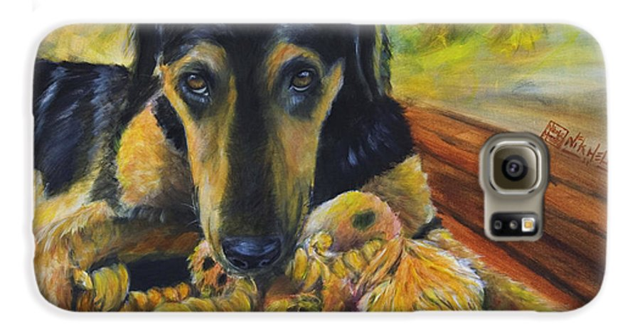 Dog Galaxy S6 Case featuring the painting Favorite Things by Nik Helbig