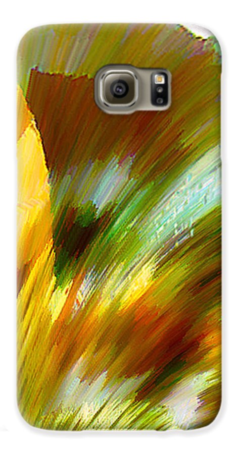Landscape Digital Art Watercolor Water Color Mixed Media Galaxy S6 Case featuring the digital art Feather by Anil Nene