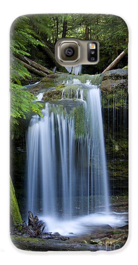 Waterfalls Galaxy S6 Case featuring the photograph Fern Falls by Idaho Scenic Images Linda Lantzy