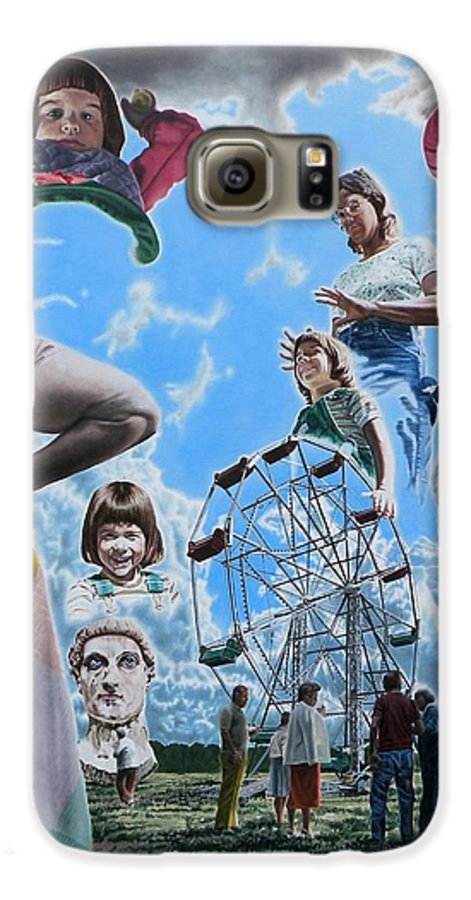 Woman Galaxy S6 Case featuring the painting Ferris Wheel by Dave Martsolf