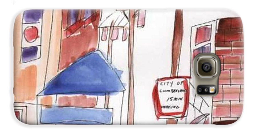 Watercolor Galaxy S6 Case featuring the painting Festival In The City 8 by B L Qualls