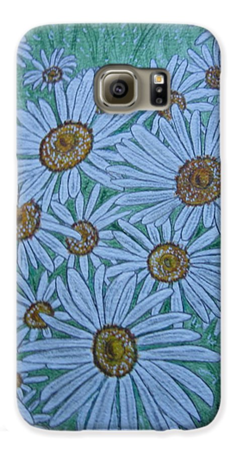 Field Galaxy S6 Case featuring the painting Field Of Wild Daisies by Kathy Marrs Chandler