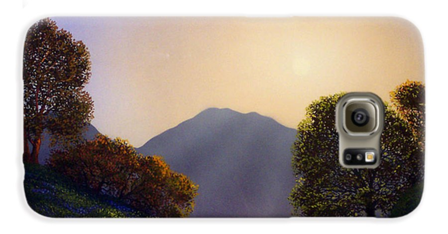 Landscape Galaxy S6 Case featuring the painting Field Of Wildflowers by Frank Wilson